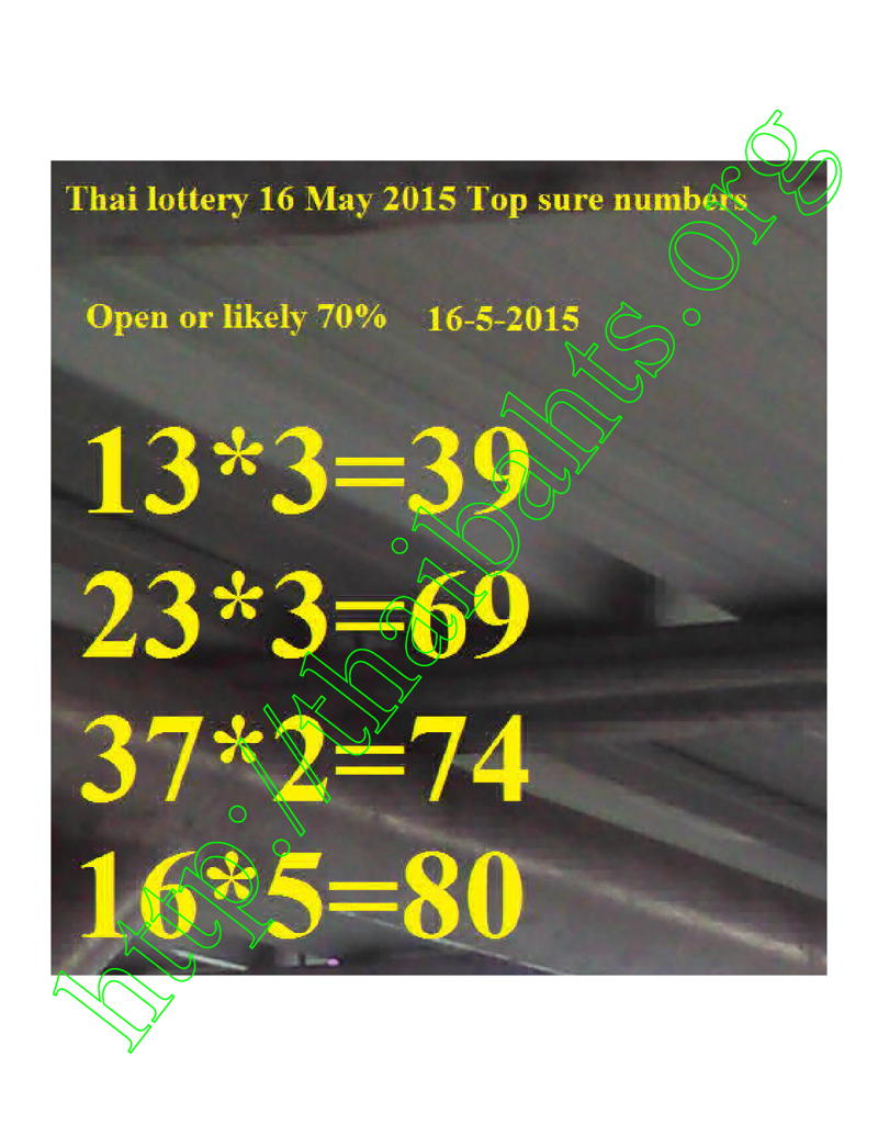 close encounters Thai lottery 16-5-2015