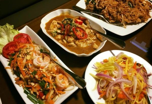 Pad Thai and salad at Baan Thai Riyadh