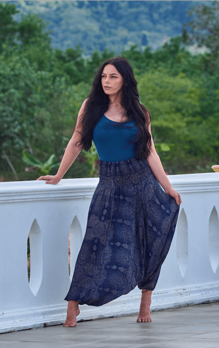 Silky Harem Pants - Thai Express Clothing