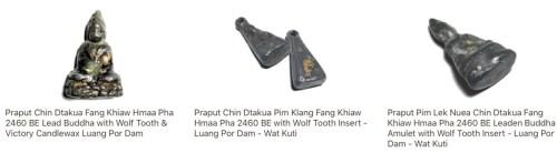 Pra Put Dtakua Fang Khiaw Hmaa Pha Luang Por Dam Wat Kuti.