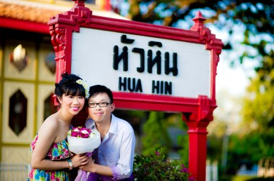 Thailand Hua Hin Railways Station Wedding Photography | NET-Photography Thailand Wedding Photographer