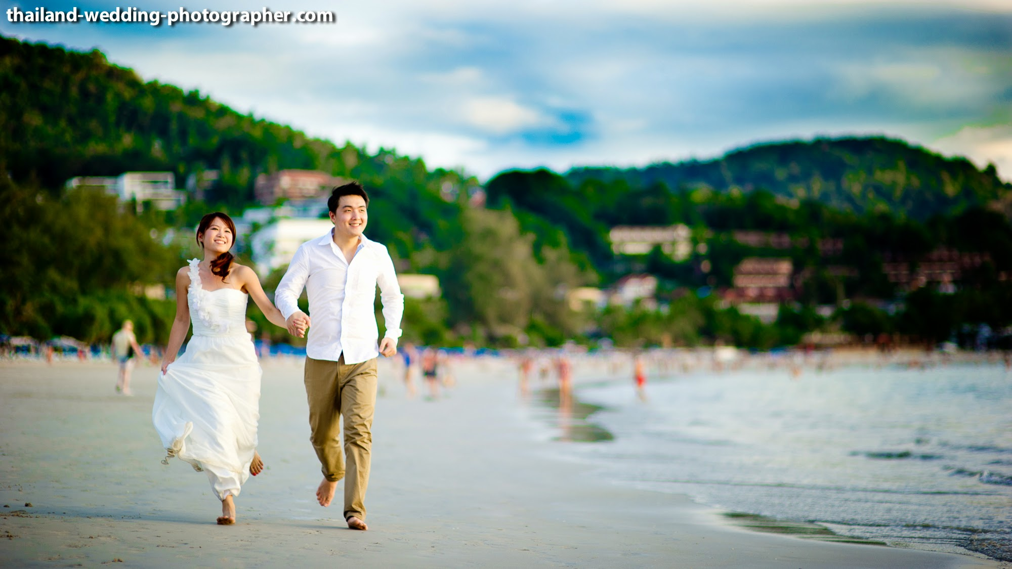 Photo of the Day: Happy Wedding Couple on Phuket Beach