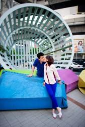 Bangkok, Thailand - Pre Wedding photo taken in the city of Bangkok.