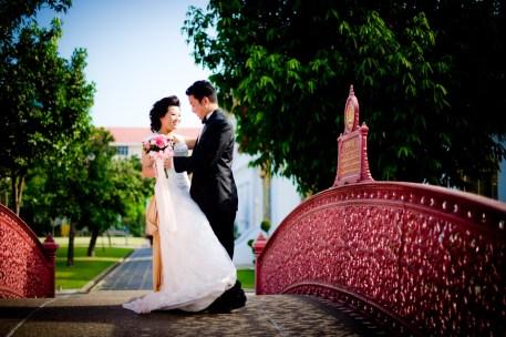 Pre-Wedding at Marble Temple in Bangkok, Thailand.