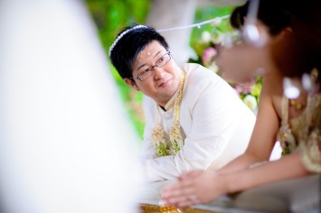 Traditional Thai engagement ceremony and wedding reception at Bangkok Marriott Resort & Spa in Thailand. NET-Photography | Thailand Wedding Photographer info@thailand-wedding-photographer.com http://thailand-wedding-photographer.com