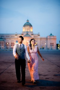 Engagement session of Maidoua and G at Ananta Samakhom Throne Hall Bangkok Thailand