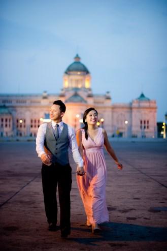 Engagement session of Maidoua and G at Ananta Samakhom Throne Hall Bangkok Thailand
