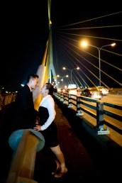 Engagement session of Maidoua and G Rama VIII Bridge Bangkok Thailand