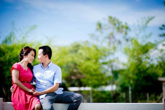 Pre-wedding pictures taken at Sheepland in Khao Yai, Thailand.