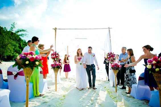 Samui, Thailand - Destination wedding at Villa Baan Rattana Thep on Koh Samui in Thailand.