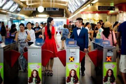 Cherlyn and Ben's BTS Siam pre-wedding (prenuptial, engagement session) in Bangkok, Thailand. BTS Siam_Bangkok_wedding_photographer__1283.TIF