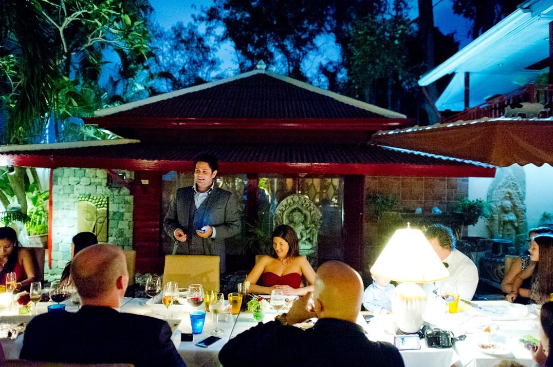 Linda and Tor's Cafe des Amis Restaurant wedding in Pattaya, Thailand. Cafe des Amis Restaurant_Pattaya_wedding_photographer_Linda and Tor_1737.TIF