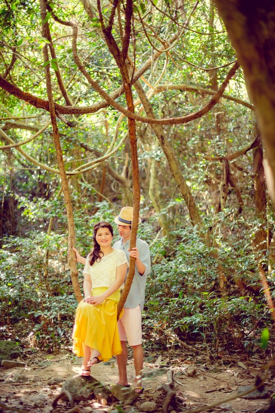 Yuen and Chan's Chet Waterfall pre-wedding (prenuptial, engagement session) in Saraburi, Thailand. Chet Waterfall_Saraburi_wedding_photographer_Yuen and Chan_2008.TIF