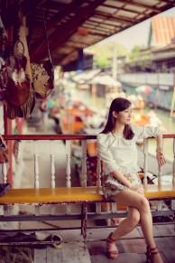 Yuchen and Wenquan's Damnoen Saduak Floating Market pre-wedding (prenuptial, engagement session) in Ratchaburi , Thailand. Damnoen Saduak Floating Market_Ratchaburi _wedding_photographer_Yuchen and Wenquan_0348.TIF
