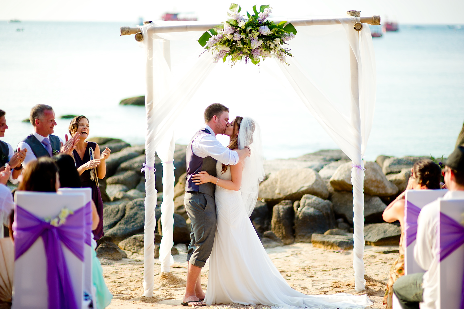 Photo of the Day: Jill and Matthew's Koh Tao Beach Wedding