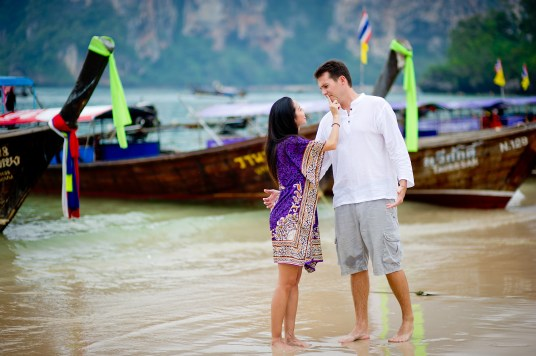 Tarinee and Dyson's Railay Beach pre-wedding (prenuptial, engagement session) in Krabi, Thailand. Railay Beach_Krabi_wedding_photographer_Tarinee and Dyson_1868.TIF