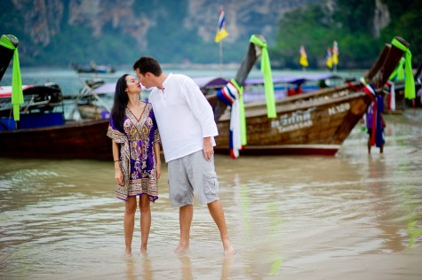 Tarinee and Dyson's Railay Beach pre-wedding (prenuptial, engagement session) in Krabi, Thailand. Railay Beach_Krabi_wedding_photographer_Tarinee and Dyson_1869.TIF