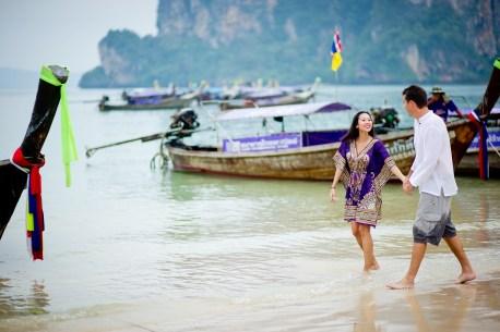Tarinee and Dyson's Railay Beach pre-wedding (prenuptial, engagement session) in Krabi, Thailand. Railay Beach_Krabi_wedding_photographer_Tarinee and Dyson_1871.TIF