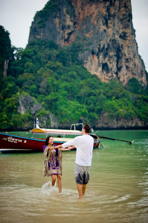 Tarinee and Dyson's Railay Beach pre-wedding (prenuptial, engagement session) in Krabi, Thailand. Railay Beach_Krabi_wedding_photographer_Tarinee and Dyson_1873.TIF