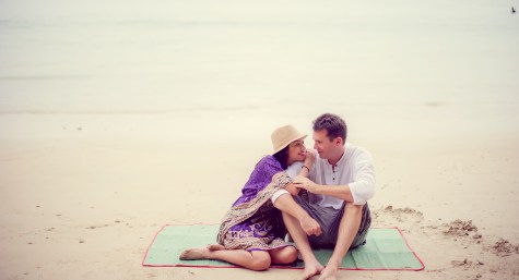 Tarinee and Dyson's Railay Beach pre-wedding (prenuptial, engagement session) in Krabi, Thailand. Railay Beach_Krabi_wedding_photographer_Tarinee and Dyson_1878.TIF