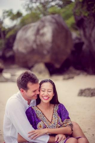 Tarinee and Dyson's Railay Beach pre-wedding (prenuptial, engagement session) in Krabi, Thailand. Railay Beach_Krabi_wedding_photographer_Tarinee and Dyson_1880.TIF