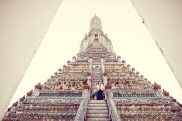 Loh and Jason's Wat Arun pre-wedding (prenuptial, engagement session) in Bangkok, Thailand. Wat Arun_Bangkok_wedding_photographer_Loh and Jason_1814.TIF