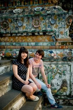 Tatiana and Alex's Wat Arun pre-wedding (prenuptial, engagement session) in Bangkok, Thailand. Wat Arun_Bangkok_wedding_photographer__1355.TIF