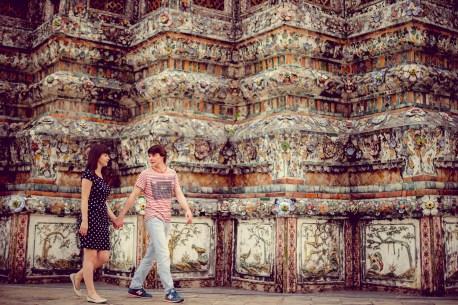 Tatiana and Alex's Wat Arun pre-wedding (prenuptial, engagement session) in Bangkok, Thailand. Wat Arun_Bangkok_wedding_photographer__1362.TIF