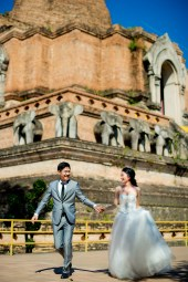 Ya-Win and Ray's Wat Chedi Luang Worawihan pre-wedding (prenuptial, engagement session) in Chiang Mai, Thailand. Wat Chedi Luang Worawihan_Chiang Mai_wedding_photographer_Ya-Win and Ray_0280.TIF
