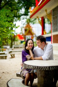 Tarinee and Dyson's Wat Kaew Korawaram pre-wedding (prenuptial, engagement session) in Krabi, Thailand. Wat Kaew Korawaram_Krabi_wedding_photographer_Tarinee and Dyson_1861.TIF