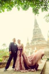 Yoko and Tor's Wat Yai Chai Mongkhon pre-wedding (prenuptial, engagement session) in Ayutthaya, Thailand. Wat Yai Chai Mongkhon_Ayutthaya_wedding_photographer_Yoko and Tor_0329.TIF