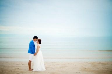 Hua Hin, Thailand - Pre-Wedding (Engagement) photo taken on a beach in Hua Hin, Thailand.