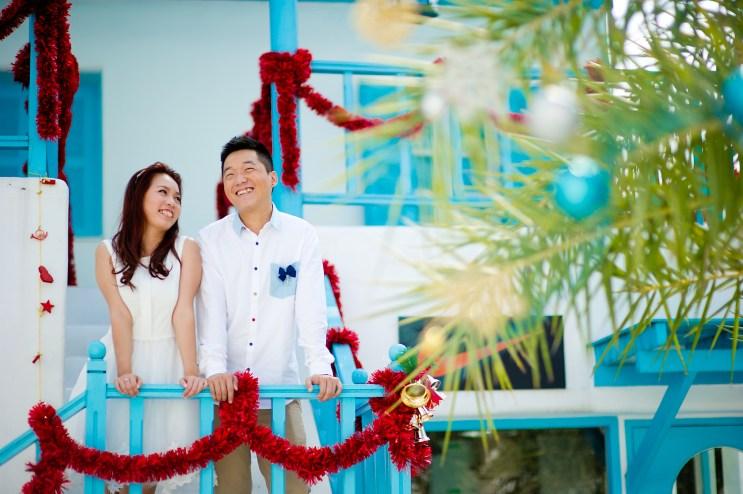 Hua Hin, Thailand - Pre-Wedding photo taken at Santorini Park Cha-Am in Thailand.