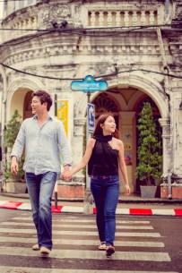 Rachel and Michael's Phuket Town pre-wedding (prenuptial, engagement session) in Phuket, Thailand. Phuket Town_Phuket_wedding_photographer_Rachel and Michael_51.TIF