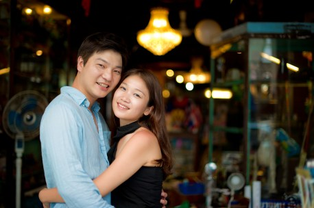 Rachel and Michael's Phuket Town pre-wedding (prenuptial, engagement session) in Phuket, Thailand. Phuket Town_Phuket_wedding_photographer_Rachel and Michael_54.TIF