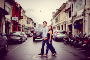 Rachel and Michael's Phuket Town pre-wedding (prenuptial, engagement session) in Phuket, Thailand. Phuket Town_Phuket_wedding_photographer_Rachel and Michael_57.TIF