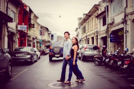 Rachel and Michael's Phuket Town pre-wedding (prenuptial, engagement session) in Phuket, Thailand. Phuket Town_Phuket_wedding_photographer_Rachel and Michael_57.TIF
