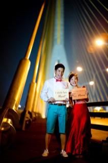 Stephanie and Kelvin's Rama VIII Bridge pre-wedding (prenuptial, engagement session) in Bangkok, Thailand. Rama VIII Bridge_Bangkok_wedding_photographer_Stephanie and Kelvin_24.JPG