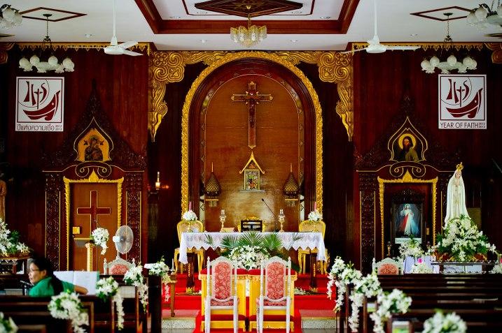 Gemma and Kevin's St. Nikolaus Church Pattaya wedding in Pattaya, Thailand. St. Nikolaus Church Pattaya_Pattaya_wedding_photographer_Gemma and Kevin_01.TIF