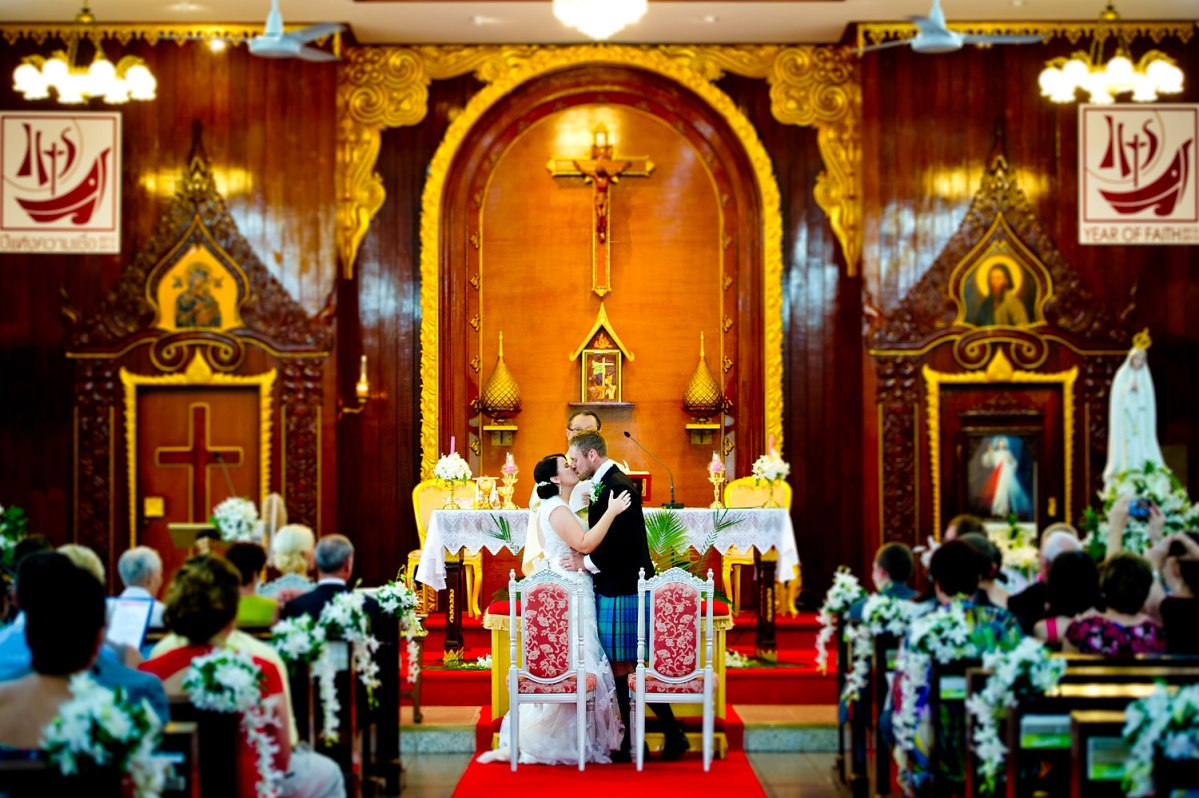 St Nikolaus Church Pattaya Wedding: Gemma and Kevin