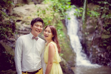 Rachel and Michael's Ton Sai Waterfall pre-wedding (prenuptial, engagement session) in Phuket, Thailand. Ton Sai Waterfall_Phuket_wedding_photographer_Rachel and Michael_46.TIF