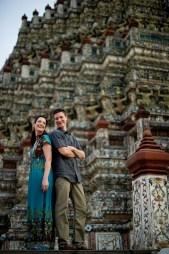 Kristine and Kent's Wat Arun pre-wedding (prenuptial, engagement session) in Bangkok, Thailand. Wat Arun_Bangkok_wedding_photographer_Kristine and Kent_253.TIF