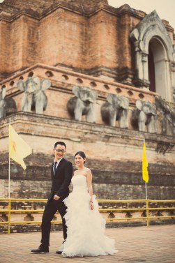 Kuma and Novia's Wat Chedi Luang Worawihan pre-wedding (prenuptial, engagement session) in Chiang Mai, Thailand. Wat Chedi Luang Worawihan_Chiang Mai_wedding_photographer_Kuma and Novia_11.JPG