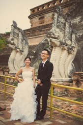 Kuma and Novia's Wat Chedi Luang Worawihan pre-wedding (prenuptial, engagement session) in Chiang Mai, Thailand. Wat Chedi Luang Worawihan_Chiang Mai_wedding_photographer_Kuma and Novia_12.JPG