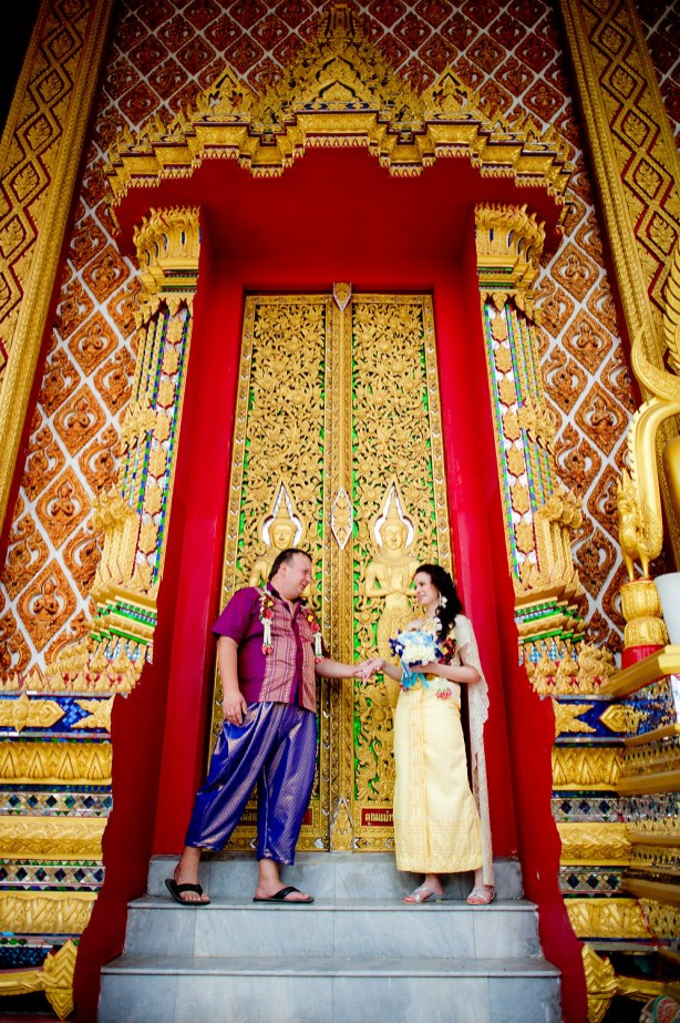 A and M's Wat Huay Yai wedding in Pattaya, Thailand. Wat Huay Yai_Pattaya_wedding_photographer_A and M_1.TIF