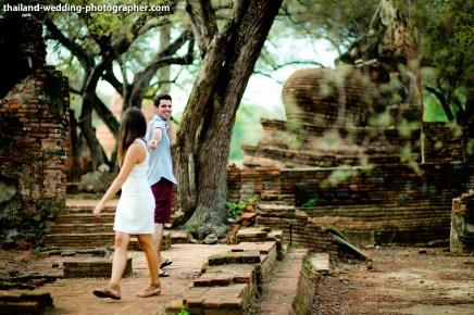 American Couple's Wat Phra Si Sanphet & Ayutthaya Historical Park pre-wedding (prenuptial, engagement session) in Ayutthaya, Thailand. Wat Phra Si Sanphet & Ayutthaya Historical Park_Ayutthaya_wedding_photographer_American Couple_14.JPG