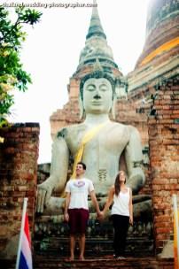 American Couple's Wat Yai Chai Mongkhon pre-wedding (prenuptial, engagement session) in Ayutthaya, Thailand. Wat Yai Chai Mongkhon_Ayutthaya_wedding_photographer_American Couple_07.JPG