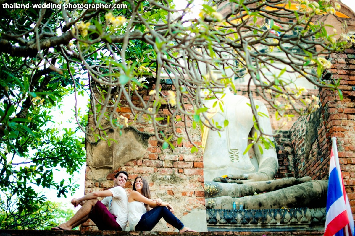 Ayutthaya Engagement Session: Wedding Couple from America & Canada