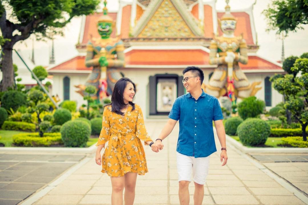 Bangkok Engagement Session at Wat Arun | Bangkok Wedding Photography