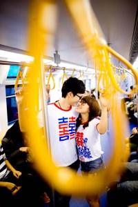 Kissing Photo   Bangkok Engagement Session - Thailand Wedding Photography